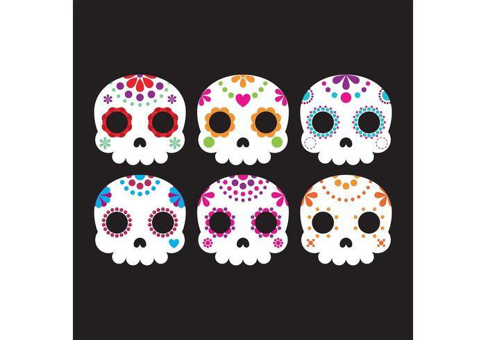 Free vector Decorative Sugar Skull Vectors #34101