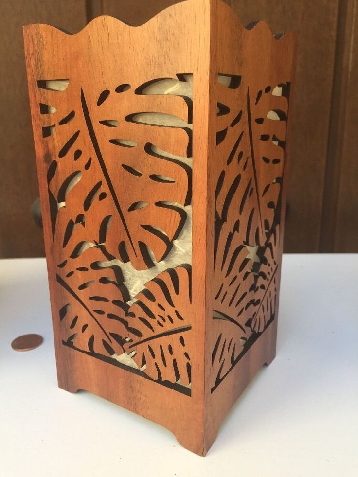 Wooden Island Beach Candle Box Palm Trees Island Collections Inc Fine Gifts  | eBay