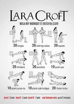 Lara Croft Workout