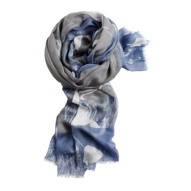 Sandwich Clothing Abstract Print Scarf Grey