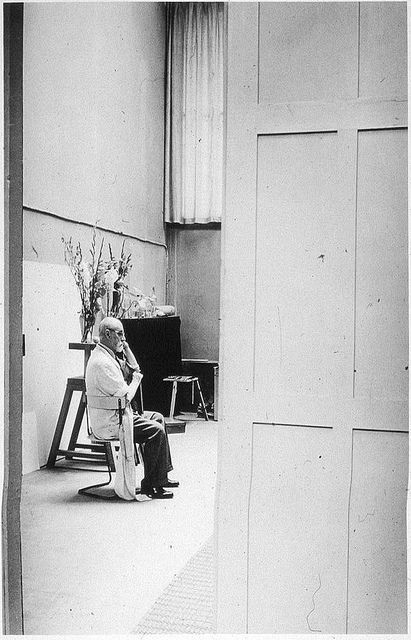 matisse in his studio, 1939, by brassai.
