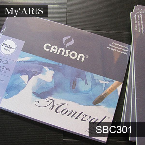 Canson Montval Watercolor Pad A4 300gsm Buku Sketsa Cat Air