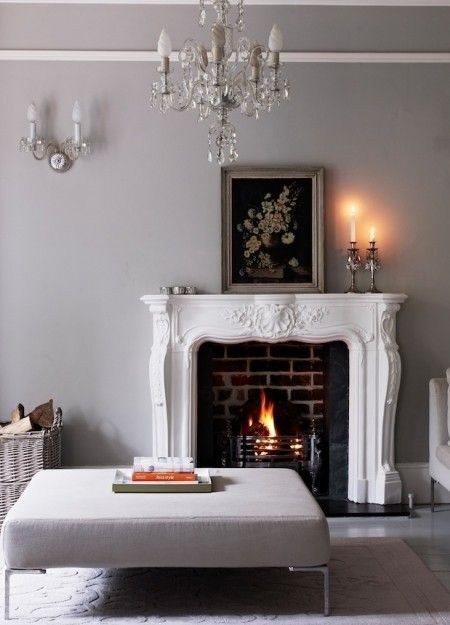 Pavilion Gray by Farrow & Ball is a powdery grey like this works brilliantly with chalky whites to prettify your living space.