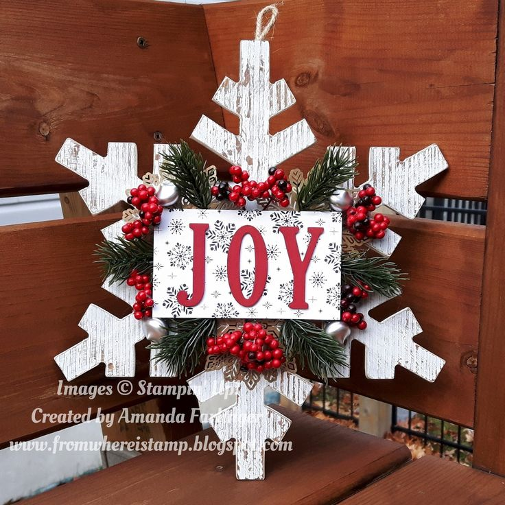 A few months ago I saw on both Pinterest and something that Stampin' Up! had shared about decorating a star with similar elements that I h...