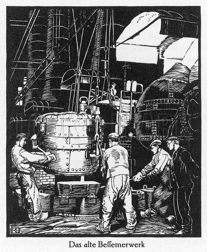 Krupp's old Bessemer machine. Date 1870s.Krupp Bessemer, Bessemer Machine