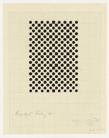 Bridget Riley, Untitled (Study for Hidden Squares), 1961