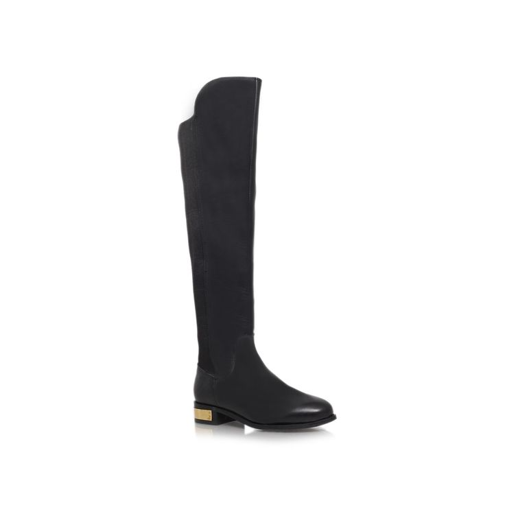 Carvela Pacific Low Heeled Over The Knee Boots, Black