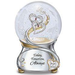 Personalized Today, Tomorrow, Always Musical Glitter Globe