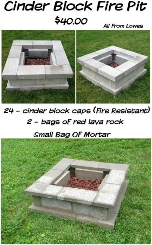 30 Brilliantly Easy Diy Fire Pits To Enhance Your Outdoors Fire Pit Backyard Cinder Block Fire Pit Fire Pit Plans