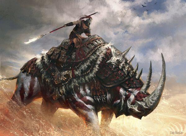 25 desert_cavalry_by_fangwangllin, Fantasy Creatures