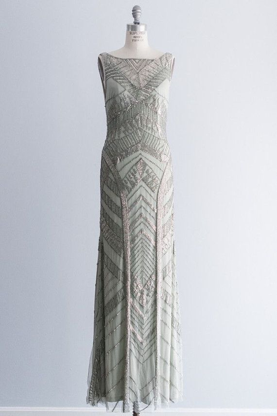 ON HOLD - MELISSA: Vintage Art Deco Gown for the alternative bride