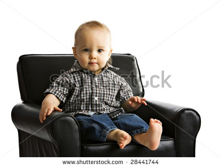 Handsome baby boy handsome baby boy sitting in a child for Kids overstuffed chair