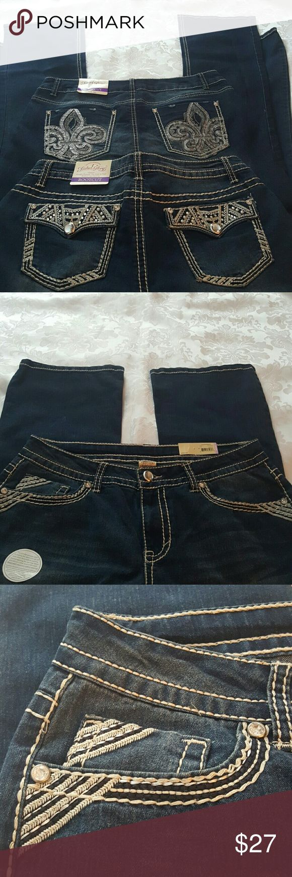 "'Price Firm' Bundle 2 pair Faded Glory Jeans These stretch. 32"" inseam.  Mid rise jeans. Faded Glory Jeans Boot Cut"