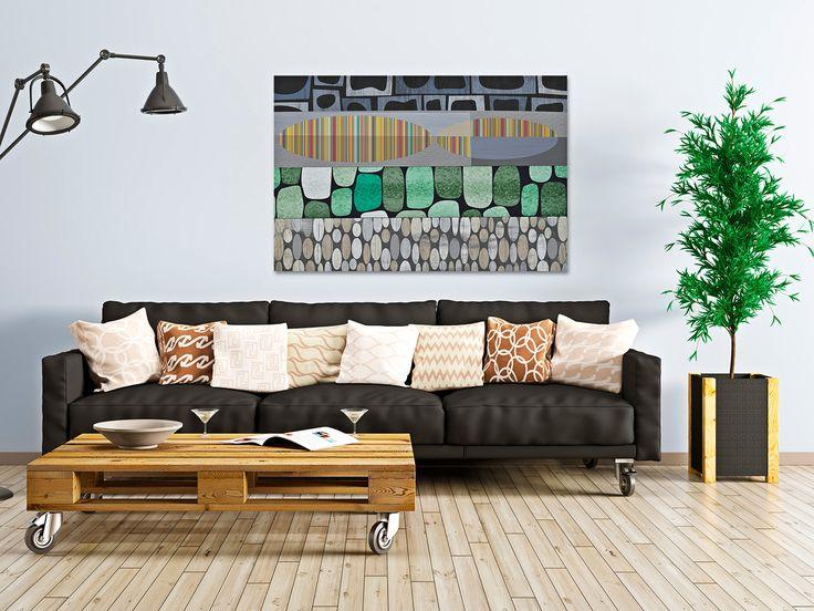 30001 Obraz na płótnie - ABSTRAKCJA kolory 120x80