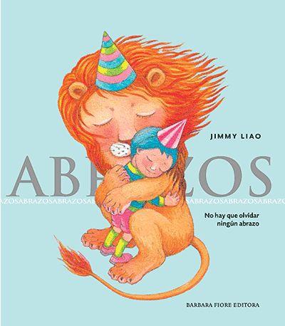 'Abrazos' es el libro más tierno de Jimmy Liao . En él texto e imagen se conjugan para contar la historia de un león que sabía leer y escribir; y al que le llega, por casualidad, un paquete con un libro sobre abrazos. Abrazos es un libro dentro de un libro. Es el libro que el león lee en el cuento y por el que su fiereza se ve transformada en ternura. Este león pelirrojo buscará, tras su lectura, un abrazo aunque quién sabe si lo encontrará.