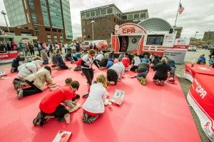 National CPR tour promotes keeping a steady beat to save lives. #AmericanHeart #CPR #HandsOnlyCPR #HOCPR