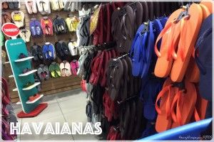 at the Havaianas outlet store