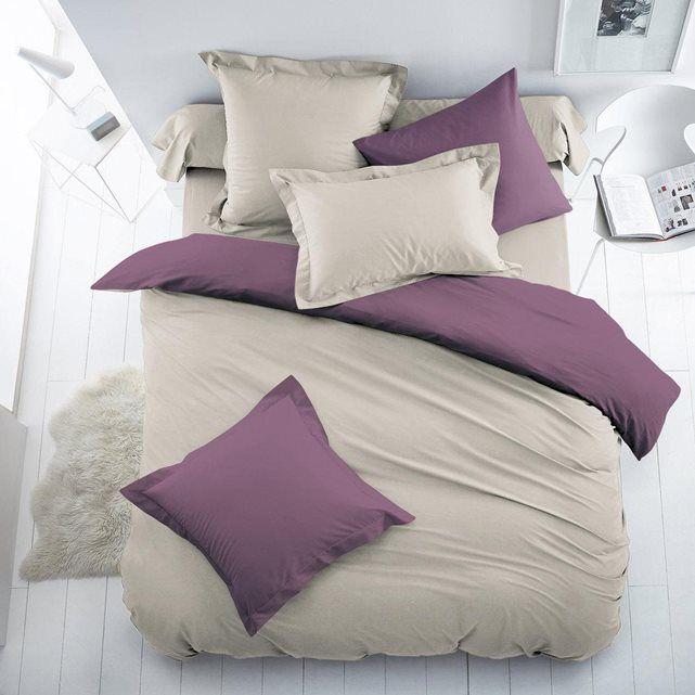 Housse de couette bicolore coton/polyester SCENARIO