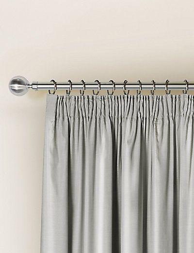 Faux Silk Pencil Pleat Black-Out Curtains