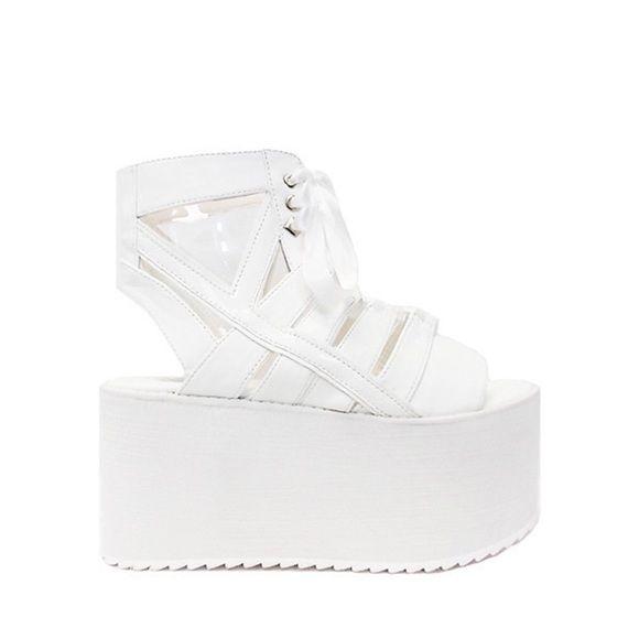 YRU WHITE MEDUSA PLATFORMS Perfect condition never been worn YRU MEDUSA PLATFORMS Y.R.U. Shoes Platforms