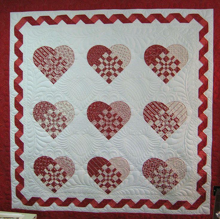 220 best Hearts & Valentine quilts images on Pinterest Quilt block patterns, Quilt patterns ...