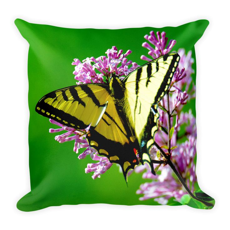 Swallow Tail Butterfly, Best Pillow Gifts, 18x18 Throw Pillow, Butterfly Pillow, Butterfly Cushion, Gifts For Her, Gifts For Mom http://etsy.me/2EnZENq #housewares #pillow #green  #no  #butterfly #etsy