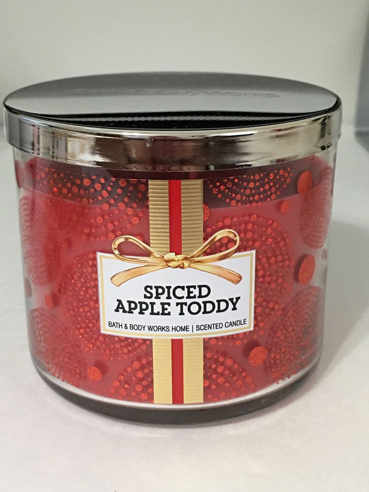 Bath & Body Works 3 Wick Jar Scented Candle Spiced Apple Toddy Fruits ...