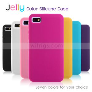 Jelly Color Soft Silicone Case for #BlackBerry #Z10 White- Witrigs.com