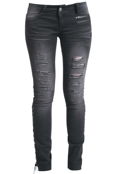 Corded Jeans - Girls jeans by EMP Rock Rebel - Article Number: 262490 - from 41.99 £ - EMP Mail Order UK Ltd. ::: The Heavy Metal Mailorder ::: Merchandise, Shirts and more!