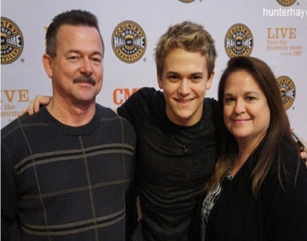 Photo of Hunter Hayes & his  Mother  Lynette Hayes