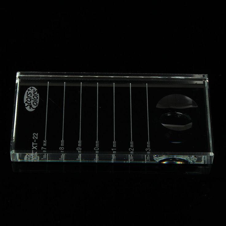2in1 Kirpik Tutkal Tutucu Kirpik Fayans Bireysel Göz Lashes Uzatma Palet Dikdörtgen Cam Yanlış Eyelashes Yapıştırıcı Ayırıcı