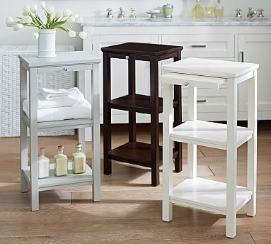 Classic Small Space Floor Storage #potterybarn