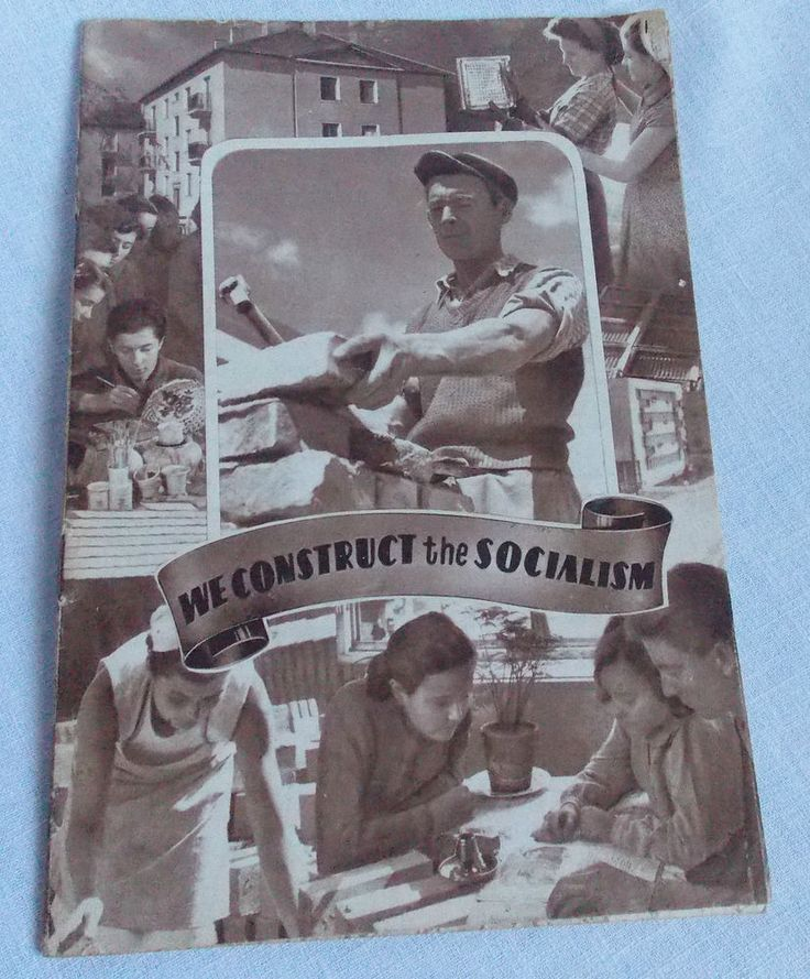1959 Pro Communist Anti Fascist Booklet Hungary We Construct the Socialism