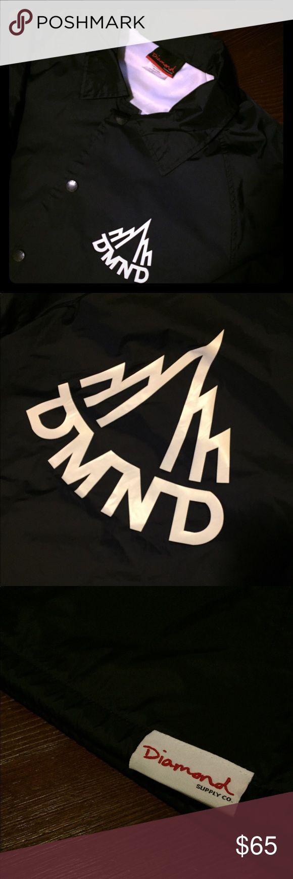 DIAMOND SUPPLY CO. Black Windbreaker Black Diamond Supply Co. Windbreaker Diamond Supply Co. Jackets & Coats Windbreakers #DiamondSupply