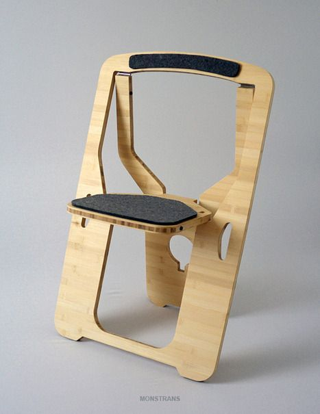Flat pack plywood folding chair