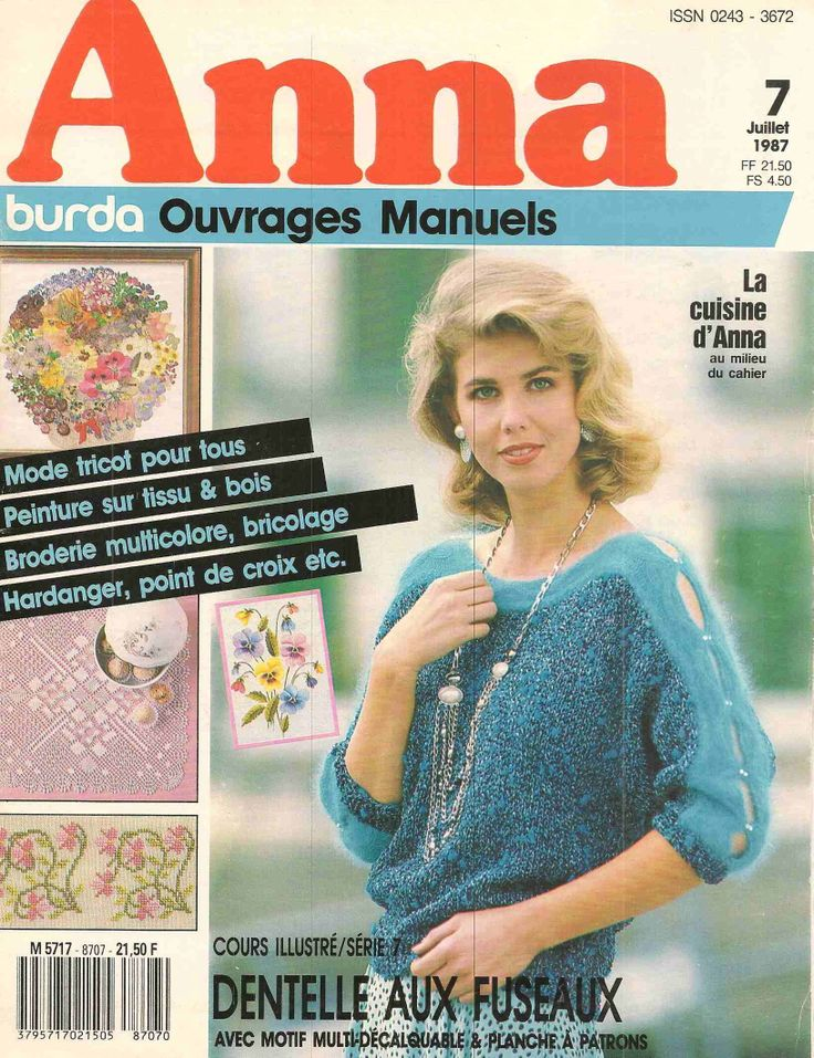 ANNA №7 1987-embroidery, knit, crochet