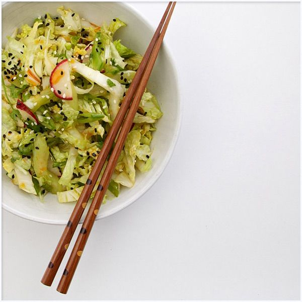 Spicy Sesame Sweet Cabbage Slaw (Bite This)
