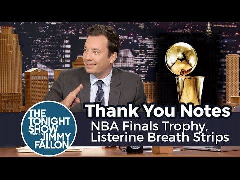 Thank You Notes: NBA Finals Trophy, Listerine Breath Strips - YouTube