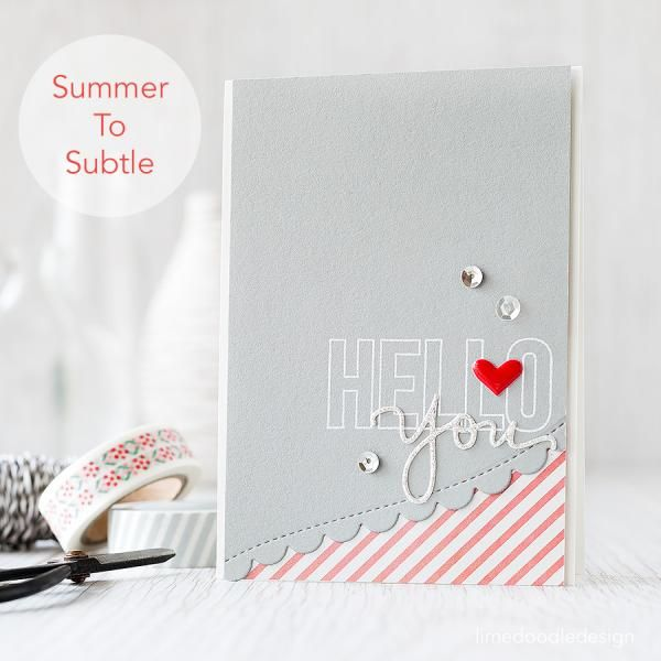 summer to subtle by limedoodle - Cards and Paper Crafts at Splitcoaststampers