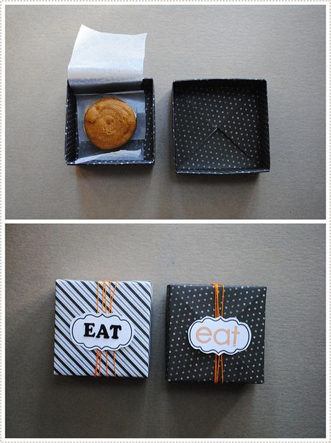 "origami boxes {for gifting treats} using 12x12"" scrapbooking paper // http://lorajeansmagazine.blogspot.com via mermag.blogspot.com"