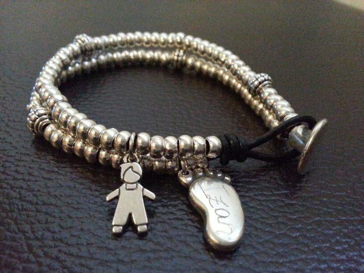 Pulsera personalizada para la mamá de Izan #pulsera #bisuteria #moda