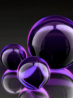 Purple marbles for Rebecca