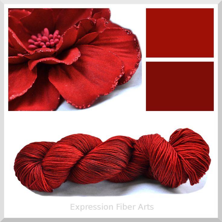 CRIMSON - Limited Edition - 3.5 oz Hand-Painted Superwash Merino Wool Sock Yarn - Expression Fiber Arts