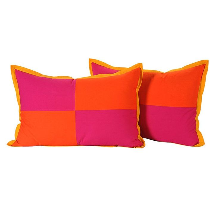 Yuga Home Décor Pink and Orange Cushion Cover 18 X 28 Inches Printed Decorative Pillowcase 2 Pcs * Details can be found by clicking on the image. (This is an affiliate link and I receive a commission for the sales)