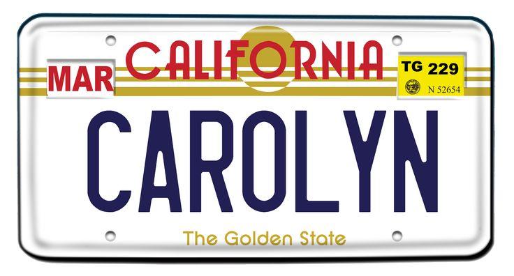 California License Plate Door Dec. #RA Life