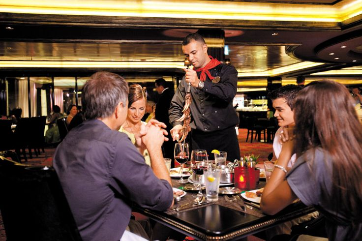 Try the first ever Brazilian steakhouse at sea with Moderno Churrascaria! Available on the Epic, Breakaway, Dawn, Gem, Jade, Jewel, Pearl, Star, Sun, and Pride of America.