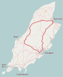 Isle of Man TT course they do this 38 mile course in 17 minutes!