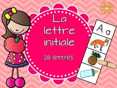 Lettre initiale - jeu d'association/alphabet/images from French Buzz on TeachersNotebook.com -  (8 pages)  - lettre initiale première lettre association jeu maternelle centre de littératie