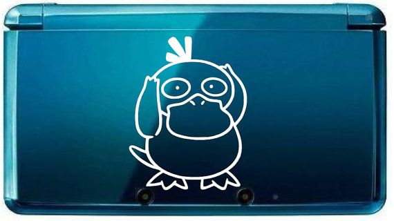 3ds Psyduck pokemon decals for nitendo 3ds 3ds by TeamRocketStore, $2.95