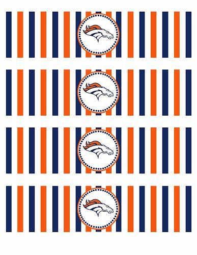 Denver #Broncos water bottle #labels printables #Superbowl party favors.